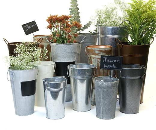 Metal French Buckets