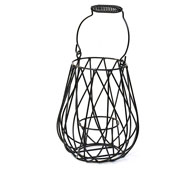 Wire Lantern with F...