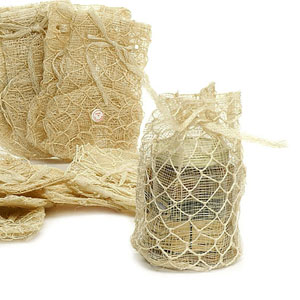 Knitted Twine/Sinamay  Pouch