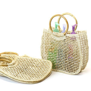Twine Tote  with Rattan Rings