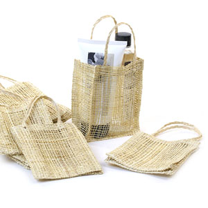 4x5 Natural Abacca Tote Bag- pack by 10