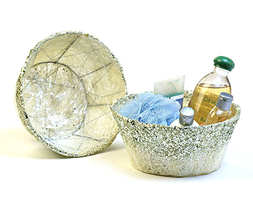 Sisal bowl with silver glitter for Glitter bowl