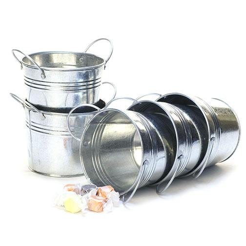 5 Inch Round Galvanized Pot