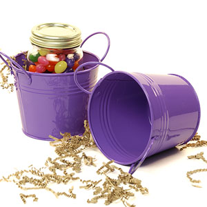 "5""  Tin Pot  Purple"