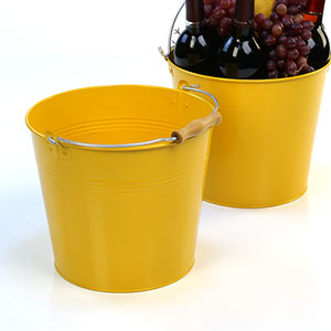 "10""  Pail Goldenrod with Wood Handle"
