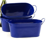 "12"" Oval Tin Tub Royal BLue"