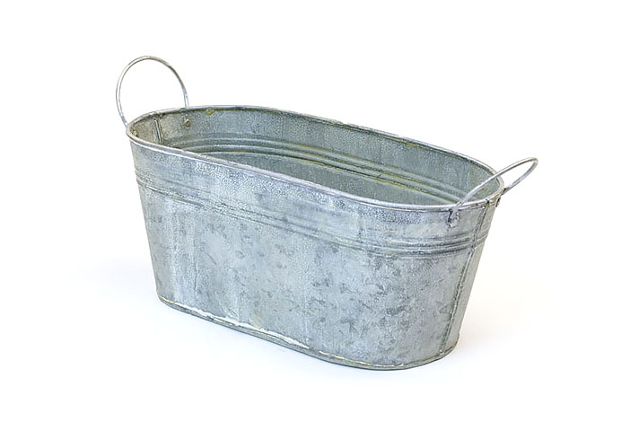 12 Quot Tin Oval Tub Vintage Finish