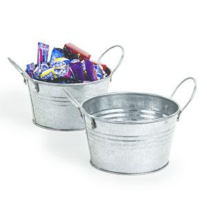 5 mini galvanized tub for Galvanized metal buckets small
