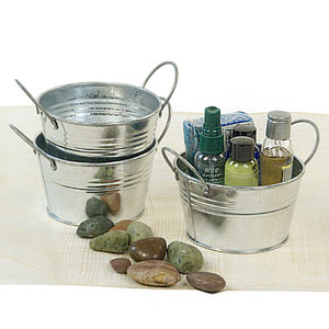 "5"" Mini Galvanized Tub"