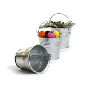 "2.5"" mini Galvanized Pail"