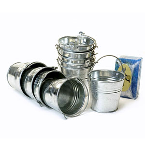 "3 7/8"" Mini Galvanized Pail"