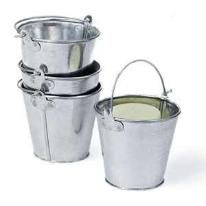 "3 7/8"" Mini Galvanized Pail no ridges"