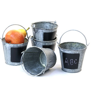 "3 7/8"" Mini Pail Vintage with chalkboard"