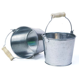 "5"" mini pail Galvanized No Ridges"