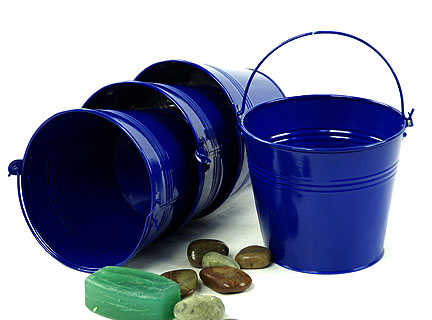 6 Quot Tin Pail Royal Blue