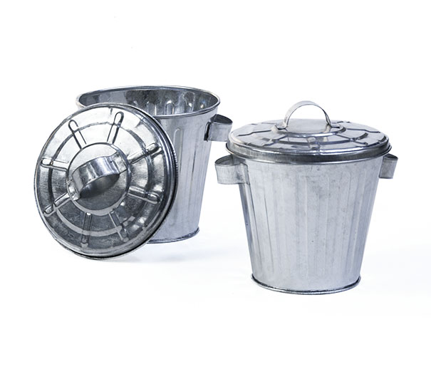 4 Quot Galvanized Mini Trash Can