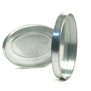 13 Quot Metal Low Bowl Galv