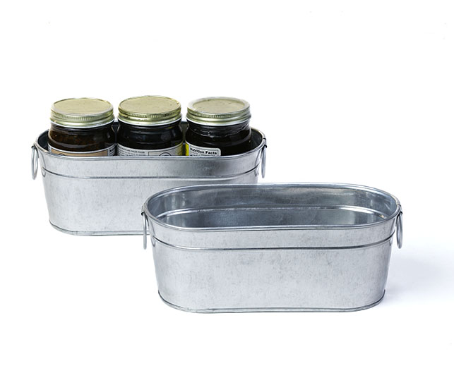 Skinny Galvanized Tub By877 1 Basket Wholesalers