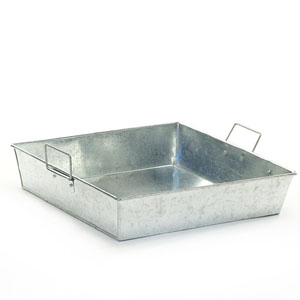 "12"" Square Galvanized Tray"