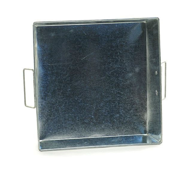 12 Quot Square Galvanized Tray